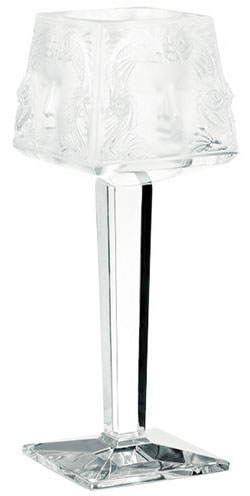 Lalique Crystal - Candle Holders Votive Masque de Femme - Style No: 10084100