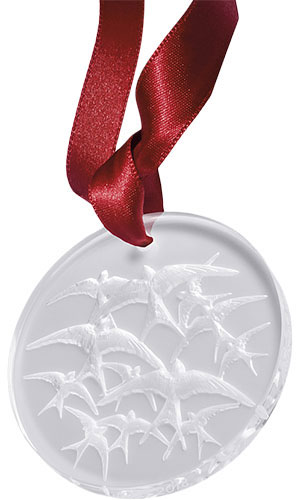 Lalique Crystal - Annual 2018 Swallows - Style No: 10647000