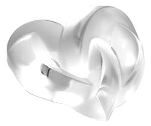 Lalique Crystal - Paperweights Hearts - Style No: 1184700
