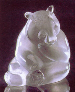 Lalique Animals Panda Crystal From Luxurycrystal