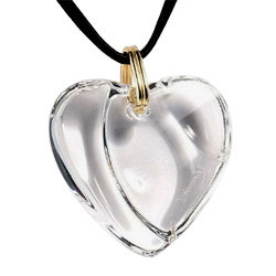Baccarat jewelry heart crystal from luxurycrystal baccarat crystal heart pendant gold link style no 1894440 aloadofball Gallery