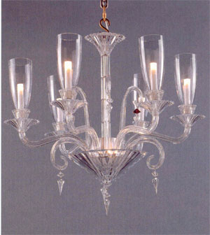 Baccarat Crystal - Chandeliers Mille Nuits With Hurricane Shades - Style No: 2609510