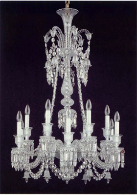 Baccarat Lighting Chandeliers Zenith Long Crystal