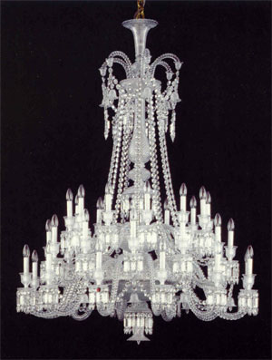Baccarat lighting chandeliers zenith long crystal aloadofball Choice Image