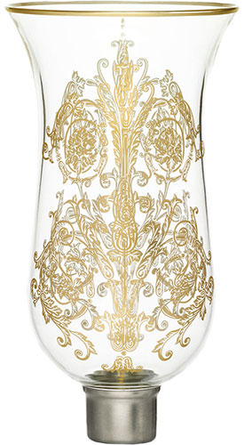 Baccarat Crystal - Hurricane Shades Acanthus - Tulipe Flat Top - Gilded - Style No: 2807230
