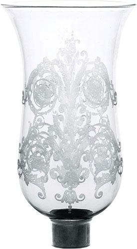 Baccarat Crystal - Hurricane Shades Acanthus - Tulipe Flat Top - Style No: 2807349