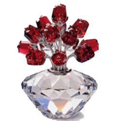 Swarovski Vase Of Roses Crystal From Luxurycrystal
