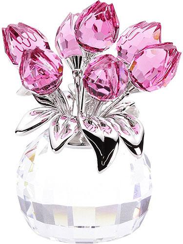 Swarovski Vase Of Tulips Crystal From Luxurycrystal