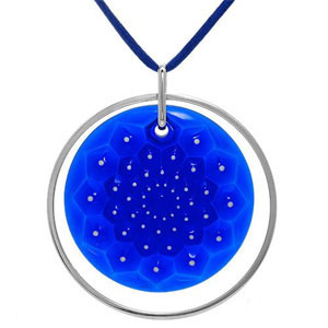 Lalique Crystal - Pendant Circles Of Blue - Style No: LALPENDBLUE