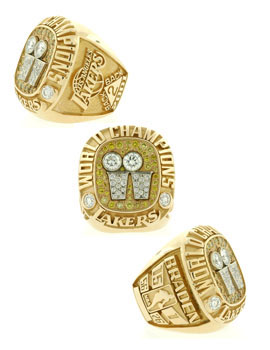 Championship Rings Gifts - 2001 Los Angeles Lakers - Style No: lakers-2001-champ-ring